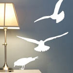 SeaGull Wall Decal, Beach Vinyl Wall Art