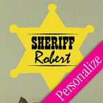 Sheriff Badge Wall Decal, Kids Vinyl Wall Art