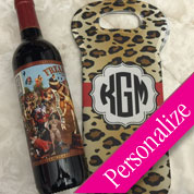 Monogram Wine Tote Designer (Single Bottle)