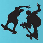 Skateboard Wall Decal Sports Vinyl Wall Art