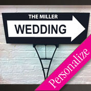 Directional Wedding Outdoor Personalized Sign
