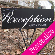 Fancy Reception Outdoor Directional Personalized Sign