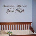Sweet Dreams Nursery Kids Vinyl Wall Decal
