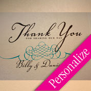 Thank You Personalized Wedding Reception Wall Decal, Wall Decor