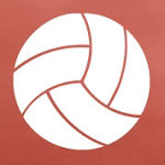 Volleyball Shapes Sports Wall Decal