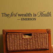 First Wealth Is Health Fitness Wall Decal, Gym Vinyl Wall Quote