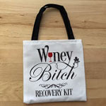 Winey Bitch Party Favor Bag Small Tote