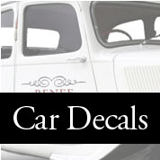 Wedding Car Decals