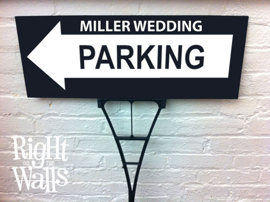 Parking Wedding Outdoor Yard Sign Personalized