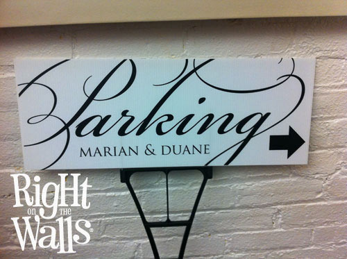 fancy parking wedding yard sign personalized direction