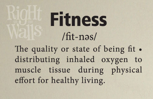 Fitness definition gym wall decals vinyl art stickers