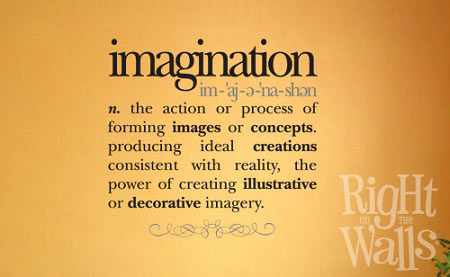 Imagination Definition Removable Wall Decals Vinyl Art