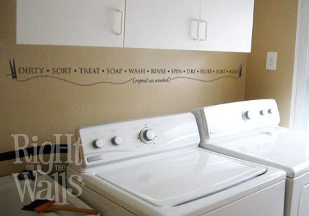 Laundry Room Words For Border Wall Decals Vinyl Art Stickers - Custom vinyl wall decals sayings for laundry room