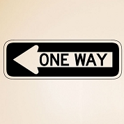 One Way Street Sign Wall Decal, Removable Arrow