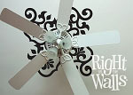 Scroll Ceiling Decal