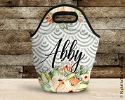 Customized Lunch Tote in Gray Arch