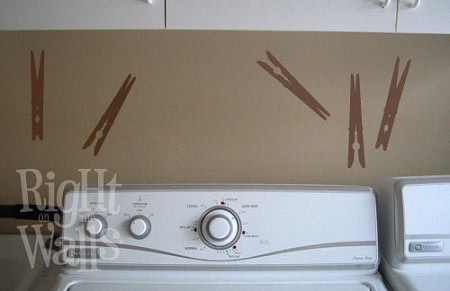 Clothespins Laundry Wall Decal Sticker