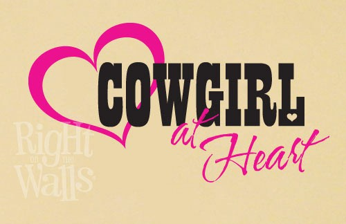 Cowgirl Western Wall Decals, Vinyl Art Stickers