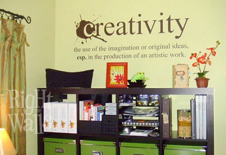 Creativity Definition Removable Wall Decals, Vinyl Art Stickers