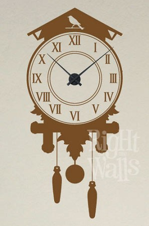 Cuckoo Vinyl Wall Decal Clock
