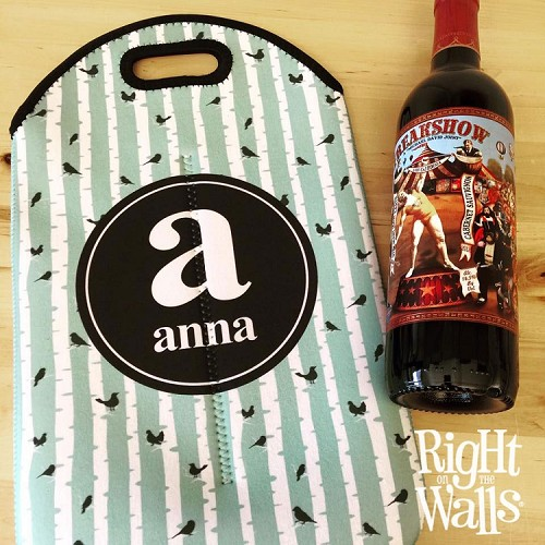 Monogram Designer Wine Tote (Double Bottle)