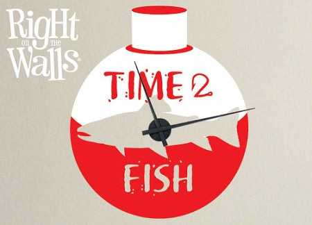 Fishing Vinyl Wall Clock