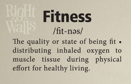 Fitness Definition Wall Decal, Gym Vinyl Wall Art