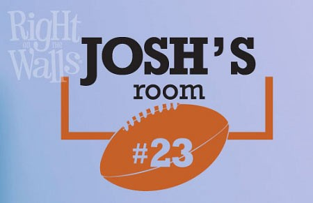 Football Room Door Sign