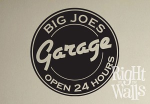 Custom Man's Garage Sign
