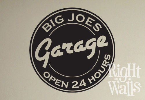 Garage Sign Custom Wall Decals Vinyl Art Stickers - Custom vinyl wall decals logo