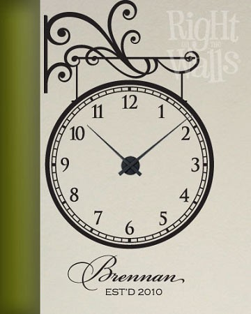 Hanging Family Vinyl Wall Decal Clock