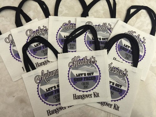 Let S Get Ship Faced Hangover Kit Party Favor Tote Bag