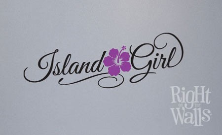 Island Girl Flower Vinyl Wall Decal