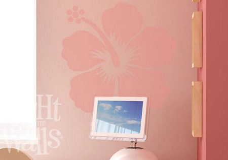 Large Hibiscus Flower Wall Decal