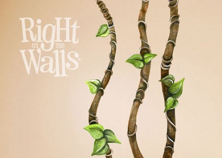 Jungle Vines Mural Printed Wall Decals Vinyl Art Stickers - Wall decals jungle