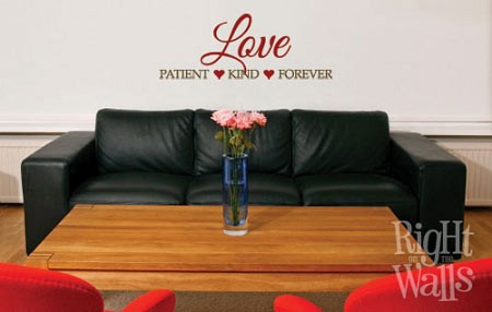 Patient Kind Forever Family Wall Quote, Vinyl Wall Decal