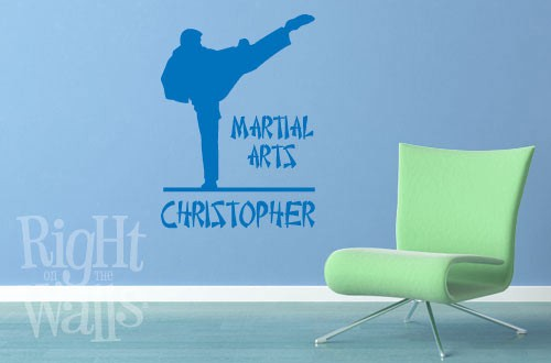 Martial Arts Wall Decal, Karate Sports Personalized Wall Decal