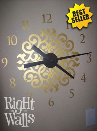Ornamental Vinyl Wall Clock