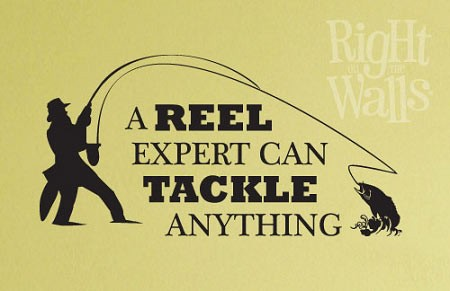 Reel Fishing Manly Wall Decal Man Cave Vinyl Wall Art