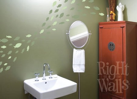 Fish Decals For Bathroom. School Of Fish Wall Decal Set 2 Color