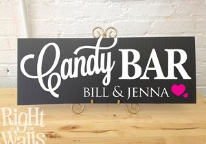 Candy Bar Wedding Table Personalized Sign