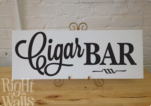 Cigar Bar Table Sign