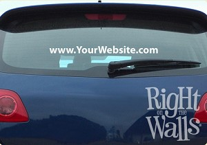 Business Domain Car Decal