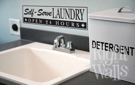 Self-Serve Laundry Room Wall Decal
