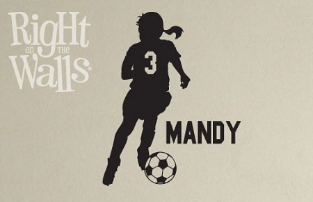 Personalized Soccer Girl Silhouette