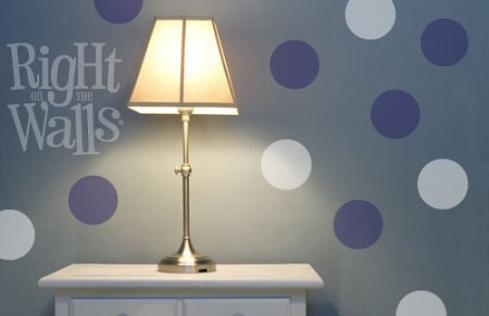 Solid Circle Shapes Vinyl Wall Decal