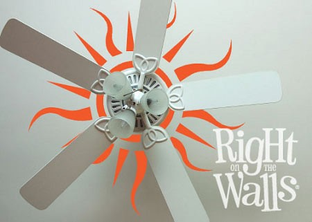 Sun Ceiling Vinyl Wall Art Decal