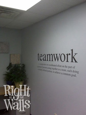 Teamwork Definition Business Wall Decals Vinyl Art Stickers - Vinyl wall decals business