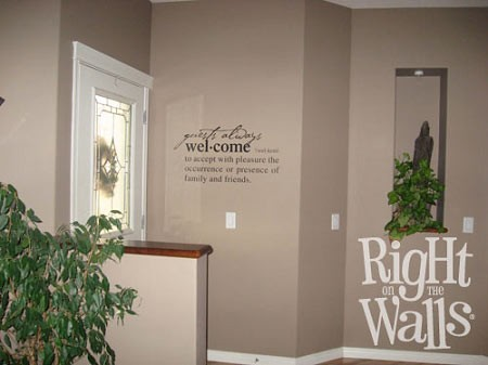 Welcome Definition Family Entryway Wall Decals Vinyl Art Stickers - Wall decals entryway