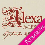 Baby Name Pronunciation Personalized Vinyl Wall Decal
